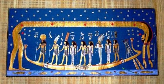 Papiro com a Deusa Nut