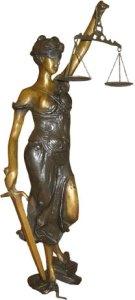 Estátua da Deusa Justitia