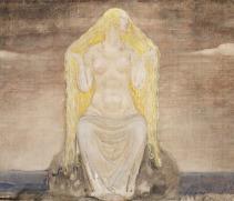 Freya, pintura à óleo de John Bauer (1882-1918)