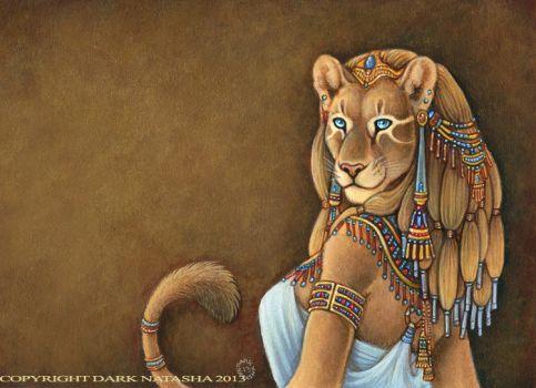 Desenho da deusa Sekhmet