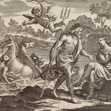 Pote greco-romano de Caineus e o Centauro