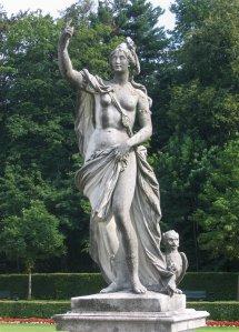 Estátua de autoria de Dominikus Auliczek, nos jardins do Palácio Nymphenburg, na Alemanha.