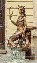 LVIV; UKRAINE - OCTOBER 13: Sculpture - Nympha Melusine on October 13, 2013 in Lviv, Ukraine.