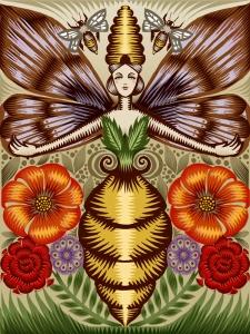 Ilustração de Mari, a Deusa abelha
