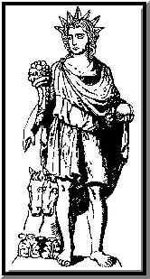 Desenho Romano de Apolo/Eosforos/Diano Lucifero