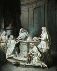 XIL230382 Vestal Virgins, 1727 (oil on canvas) by Raoux, Jean (1677-1734) oil on canvas 92x72.5 Musee des Beaux-Arts, Lille, France Lauros / Giraudon French, out of copyright