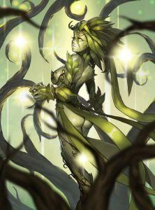 Imagem de uma mulher formada por folhas