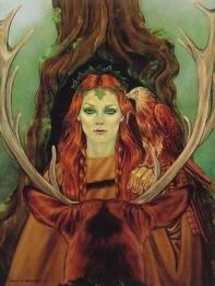 Ilustração com traços celtas de Druantia