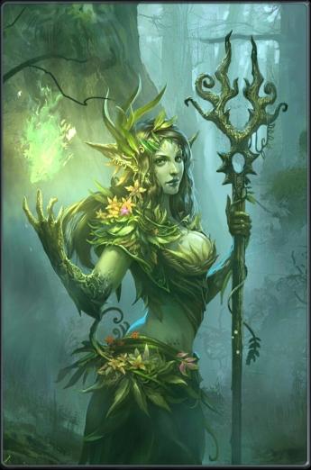 Deusa Druantia com seu poder